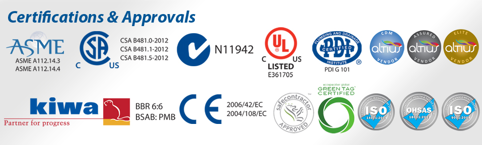 Approvals and Certifications