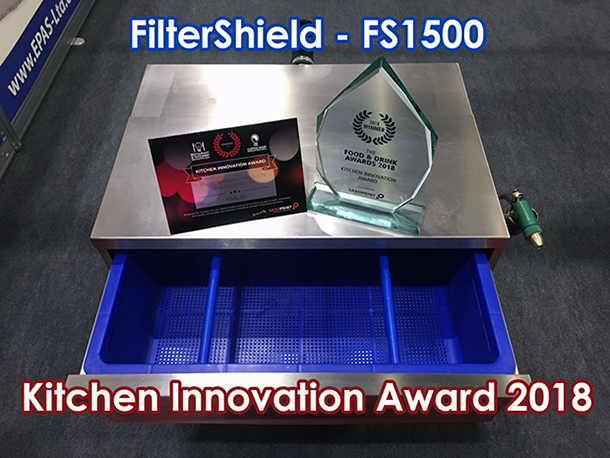 FilterShield Wins at the Kitchen Innovation Awards 2018