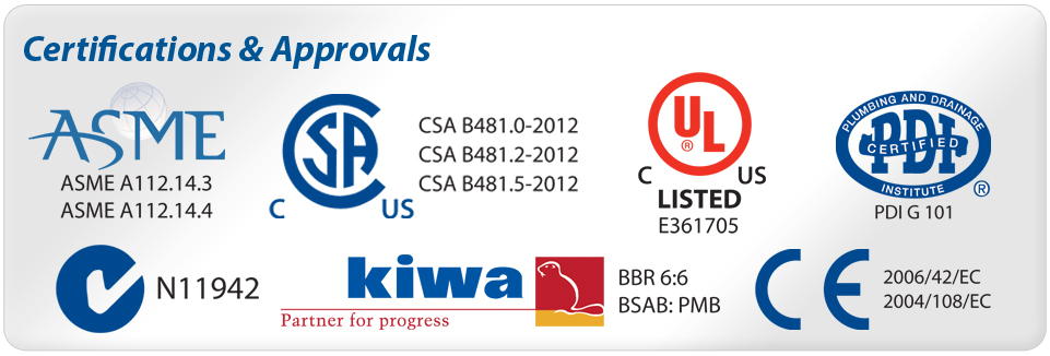 Certifications-Approvals